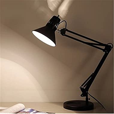 OliaDesign Swing Arm Desk Lamp with Base A19 Bulb, 33.86 , Black