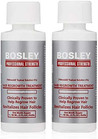 Bosley Professional Strength Men's Hair Re-growth Treatment, 5% Minoxidil Topical Solution