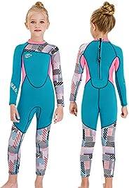 Gogokids Girls Wetsuit Kids Thermal Swimsuit 2.5mm Children Neoprene Diving Suit