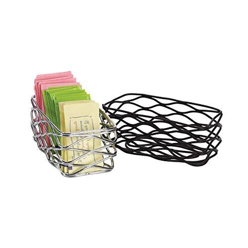 American Metalcraft Black Wire Birdnest Sugar Packet Holder, 4 1/2 x 2 1/4 x 1 3/4 inch - 1 each. (Wire Packet Holder Sugar)