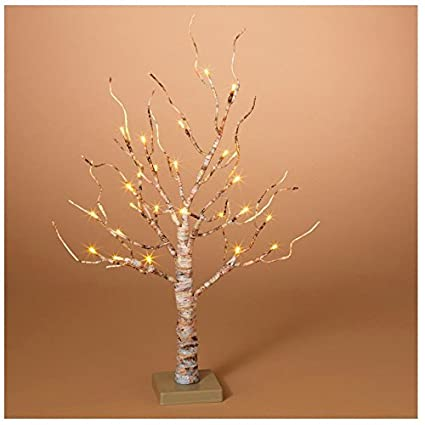 gerson company led birch christmas tree white 24 in 1 pk