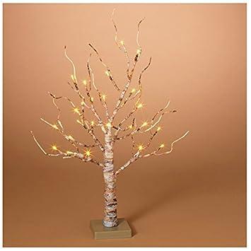 Amazon.com: Gerson Company LED Birch Christmas Tree White 24 in. 1 ...