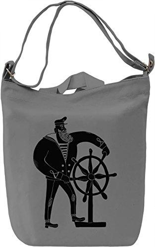 Sailor Borsa Giornaliera Canvas Canvas Day Bag  100% Premium Cotton Canvas  DTG Printing 