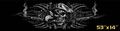 Creative tints Buccaneer Pirate Skull Tampa Bay Pride Car Truck Rear Window Graphic Decal (53-by-14-inch)