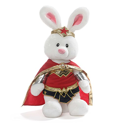 GUND DC Comics Wonder Woman Stuffed Animal Bunny Limited Edition Deluxe Plush, 14
