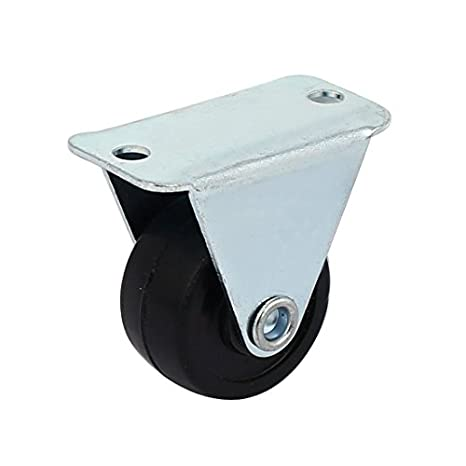 eDealMax DE 1 pulgada de goma sola rueda de Metal placa fija la Silla carretilla Ruedas 2pcs: Amazon.com: Industrial & Scientific