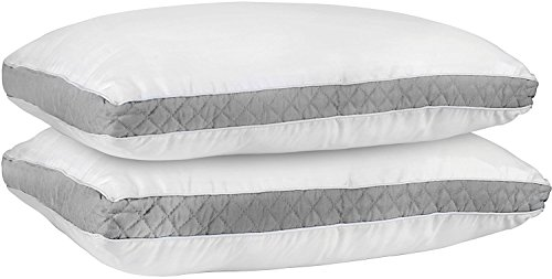 Gusseted Quilted Pillow King Grey