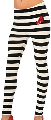 Rubie's Costume Co Women's Wizard Of Oz Adult Wicked Witch Of The East Leggings, Multi, One (Wicked Witch Of The East Costume)
