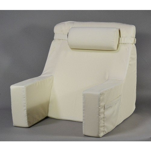 Bed Lounger With Cervical Roll by Deluxe Comfort