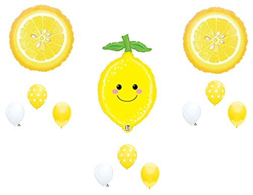 SMILEY LEMONADE Summer Birthday Party Balloons Decoration Shower Fruit -