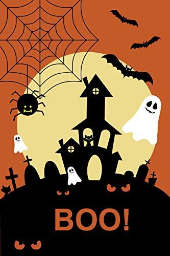 BANNER BUZZ MAKE IT VISIBLE Happy Halloween Scary Pumpkin Garden Flag 12