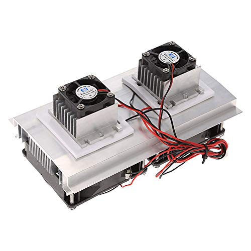 Semoic 200 x 118 x 95mm 120W Thermoelectric Peltier Refrigeration Semiconductor Cooling System Kit Double Fan