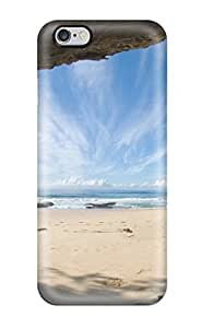 Hot Ocean And Sky Blue Sand Sea Rocks Nature Summer First Grade Tpu Phone Case For Iphone 6 Plus Case Cover