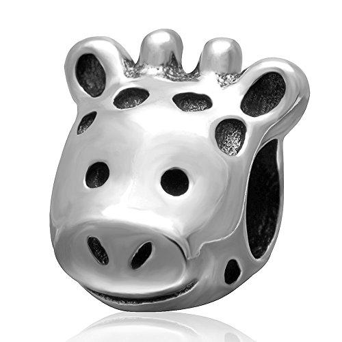 Giraffe Charm Animal charm -925 Sterling Silver Charm - fits Pandora Charm Bracelets (A)