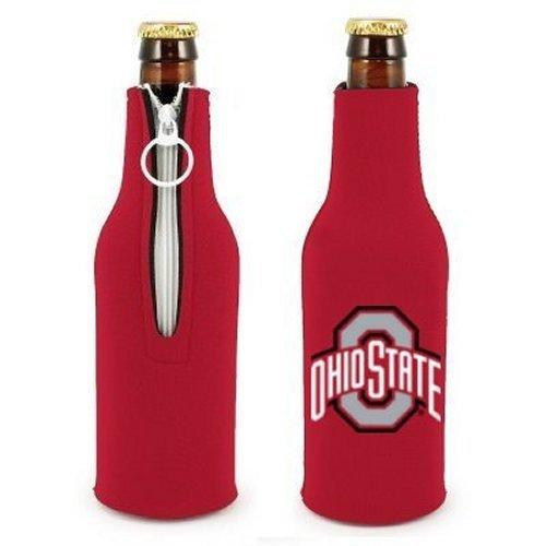 NCAA Ohio State - Neoprene Bottle Suits (2) | OSU Buckeyes Bottle Insulators with Zipper - Set of 2
