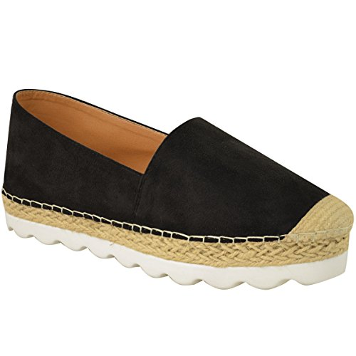 Fashion Thirsty Womens Flat Espadrilles Moccasins Flatforms Deck Wedge Shoes Size 10