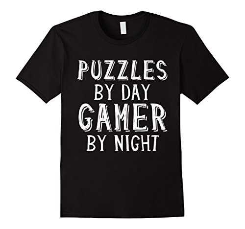 Nerd Costume Ideas For Couples (Puzzles By Day Gamer By Night Puzzle Lover Gift T-Shirt)