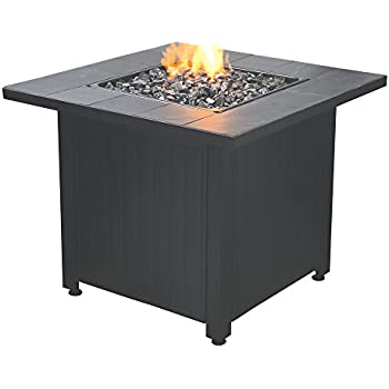 Amazon Com Blue Rhino Outdoor Propane Gas Fire Pit Lava