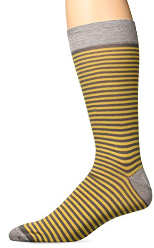 Zanella Socks Men's Z9033, Grey/Yellow, 10-13