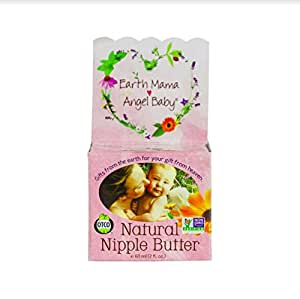 Natural Nipple Butter Organic Breastfeeding Cream (2 Fl. Oz.)