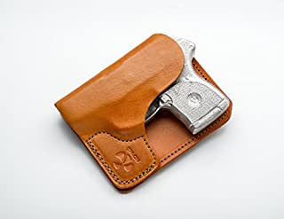 Talon Wallet Holster for Ruger LCP with LaserMax CFLCP Laser - Brown