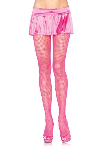 Leg Avenue Women's Spandex Fishnet Pantyhose, Neon Pink, One Size ()