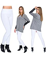 SOFTSAIL Dames hoge taille fleece binnenkant katoenen legging dames winter niet zie trog rekbare dikke broek buik controle grote maten LWPP28