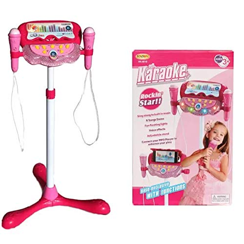 Kids Karaoke Machine with 2 Microphones and Adjustable Stand, Kids Microphone AUX Cable Connect to Your Electronic Devices for Music Player Toy Play Set by MTT (Image #3)