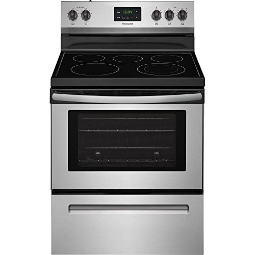 Frigidaire FFEF3052TS 30 Inch Electric Freestanding Range with 5 Elements, Smoothtop Cooktop, 4.9 cu. ft. Primary Oven Capacity, in Stainless Steel