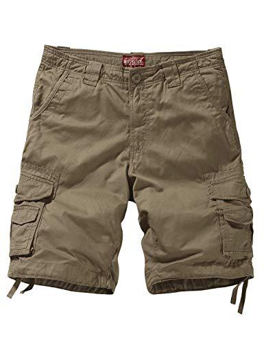 - Match Men's Twill Comfort Cargo Short Without Belt #S3612 (Label Size 3XL/38 (US 36), Light Khaki)
