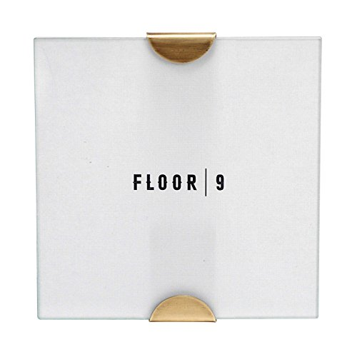FLOOR | 9 Square Table Top Frame With Brass Finish, 5