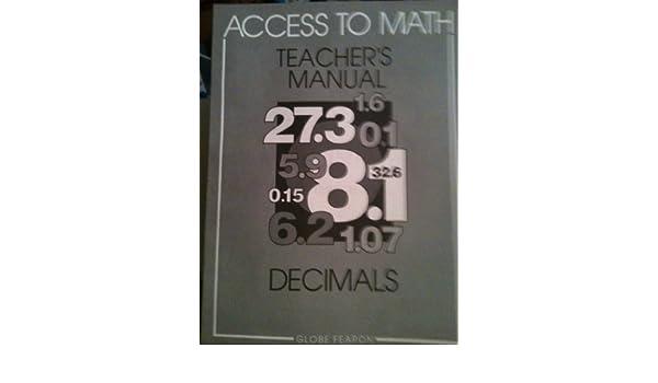 Access to Math: Decimals Trm 96c (Access to Math (Teacher's