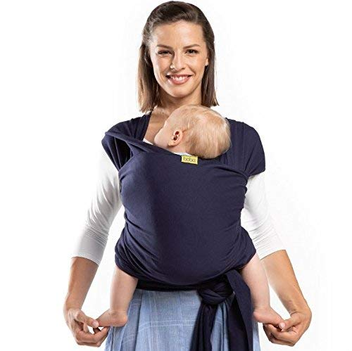 Baby Boba Wrap Carrier Sling, Navy Blue, With Pouch -  Holds