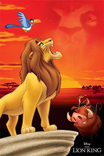 Pyramid International The Lion King King of Pride Rock Disney Movie Poster 36x24 inch