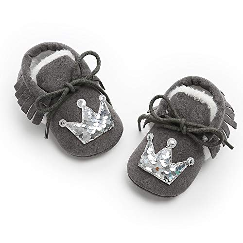 Et Chaussures Bébé Marche Peluches Bébé Chaussure Courroie Pour De Lanskirt Coton Foncé En Chaussons Gris Enfant Bandage Couronne HqvwIIA