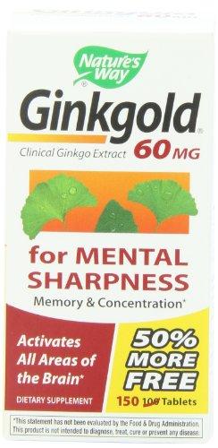 Путь Ginkgold, 60 мг, 150 таблеток Природы