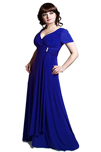 Empire e Gr Farbe Lee Damen Abendkleid Royalblau Anny qTAa1A