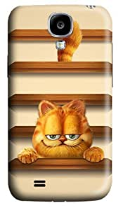 Garfield Shelves Polycarbonate Hard Back Case Cover for Samsung Galaxy S4 SIV I9500