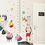 Rabbit Balloon Wall Sticker Kids Room Decoration Kindergarten Classroom Art Background Autocollant Mural Home Decor Wall Stickers (giraffe height chart)