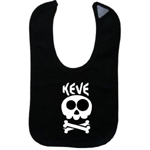KEVE - Vintage Skull And Bones - Name-Series - Black Bib