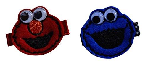 Elmo and Cookie Monster Toddler Preschool Handmade No Slip Hair Clip Set (Alligator Clips - for all hair types)]()