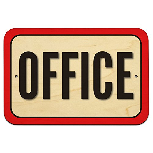 "Office 9"" x 6"" Wood Sign"