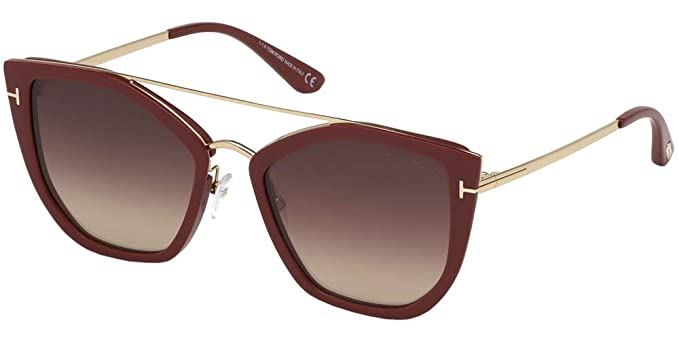 86f32e0a50f1fd Lunettes de Soleil Tom Ford DAHLIA-02 FT 0648 RED DARK BROWN SHADED unisexe