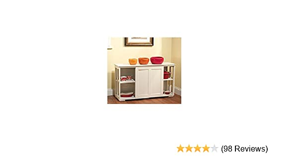 Amazon TMS Pacific Stackable Storage With Wood Door Antique White Kitchen Dining