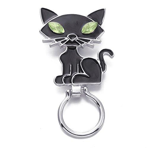 SENFAI Halloween Seris of Magnetic Eyeglass Holder for Unisex Adult Black Cat -