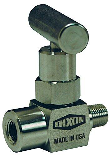 Dixon MFC101 Steel Male to Female Mini Needle Valve, 1/8''-27 NPT, T-Design Handle by Dixon Valve & Coupling