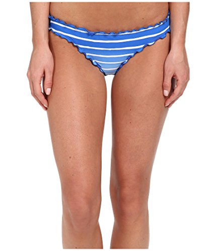 (Seafolly Bottom Swimwear Tanga Miami Stripe Mini Hipster Blue Lapis)