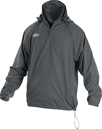 Rawlings Sporting Goods Mens Adult Jacket W Removable Sleeves & Hood, Graphite, x Large