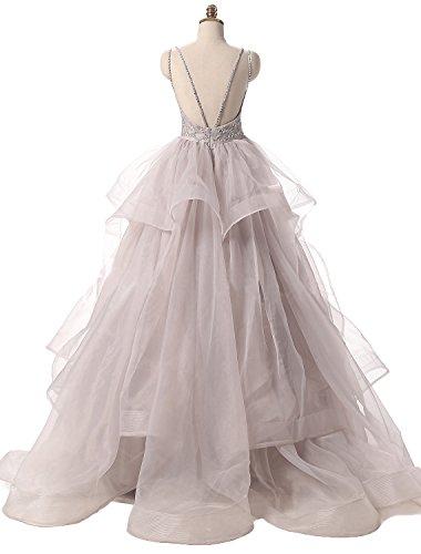 Rock Linie Langes Partykleider Tuell Charmant Festlichkleider Promkleider Abendkleid Silber A Ballkleider Prinzess Damen q6pWzxvZ