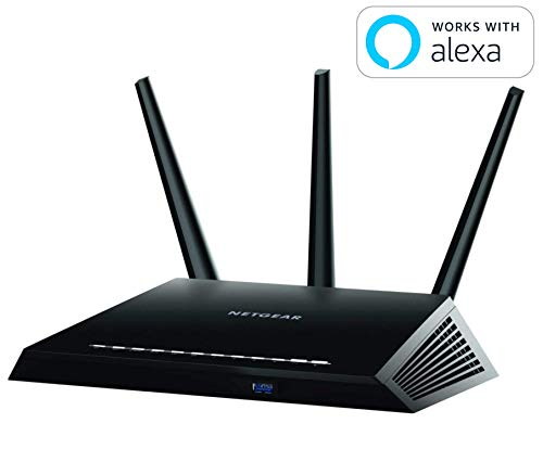 (NETGEAR Nighthawk Smart WiFi Router (R7000) - AC1900 Wireless Speed (up to 1900 Mbps) | Up to 1800 sq ft Coverage & 30 Devices | 4 x 1G Ethernet and 2 USB ports | Armor Security)